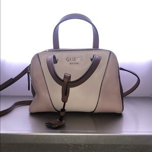 Small, very light pink and brown guess bag
